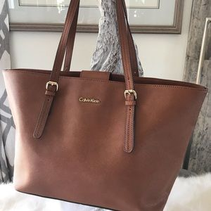 Calvin Klein Brown Large Tote Handbag